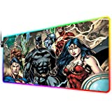 RGB Gaming Mouse Pad for Super Hero, LED Soft Extra Extended Large Mouse Pad,Anti-Slip Rubber Base,Computer Keyboard Mouse Mat 31.5 X 12 Inch