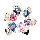 Toyvian 6 Piezas Marionetas de Dedo de Familia Títeres de Dedos Muñeca de Dedos Juguetes para...