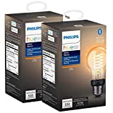 Philips Hue 551770-2 White A19 Smart Filament, 2 Pack