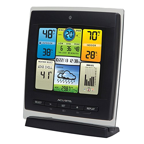AcuRite 00589 Pro Color Weather Station with Wind Speed, Temperature and Humidity by Chaney Instruments