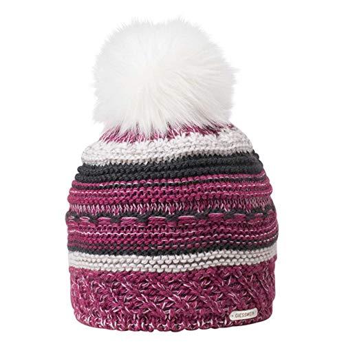 GIESSWEIN Strickmütze Brünnstein - Warme Damen Winter-Mütze aus Merinowolle, Haube mit Kunstfell-Bommel und Fleece-Futter, Merino Wool Beanie
