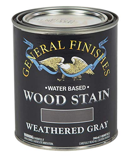 General Finishes Water Based Wood Stain, 1 Quart, Weathered Gray