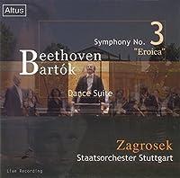 ベートーヴェン:交響曲第3番 「英雄」 バルトーク:舞踊組曲 ( Beethoven : Syn No3/Zagrosec staats orch Stuttgart )