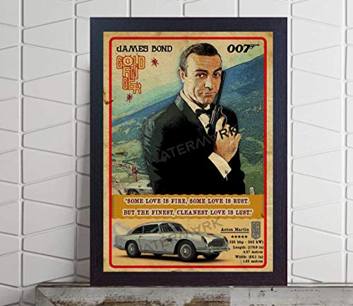 ISRAELI STORE #James #Bond 007 car Film Movie Goldfinger Poster Retro Print Game Quote Print Old Photo or UNFRAMEDGifts for Fan Lovers Posters No Framed