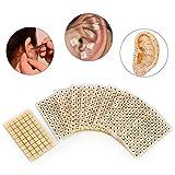 Acupuncture Semillas de Oreja 600 unids Masaje de relajación sonda acupresión oído vaccaria Bean Auricular-Paster presión oídos Pegatinas