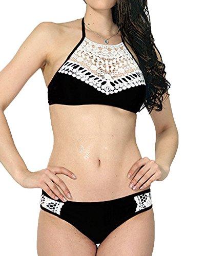 EUFANCE Costumi Bagno Bikini Donna Bikini a Due Pezzi Sportivi Estivi più Bustier
