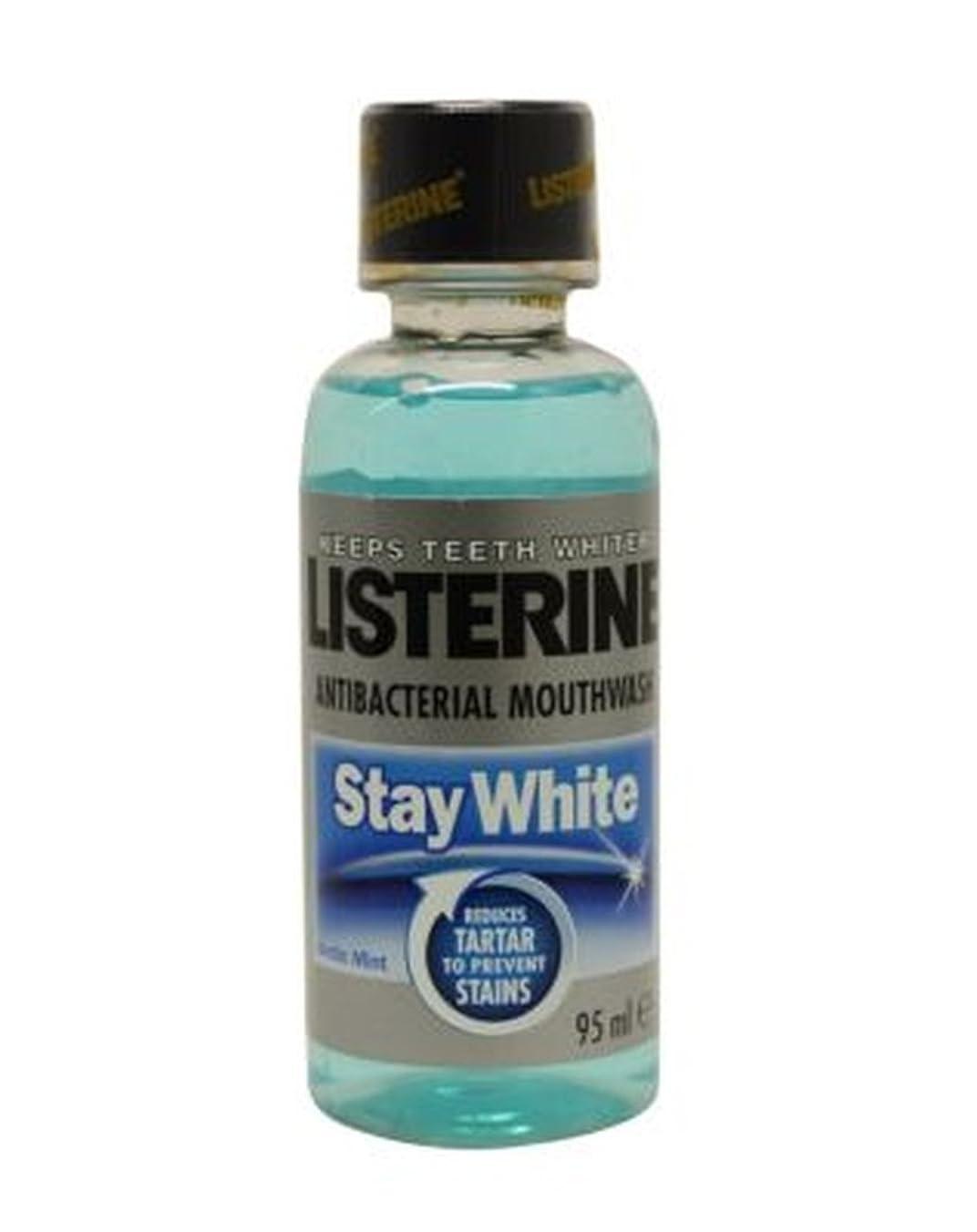 シニス引き受ける海洋のListerine Stay White Mouthwash 95ml - リステリン白いマウスウォッシュ95ミリリットルを滞在 (Listerine) [並行輸入品]