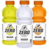 Gatorade Zero Sugar Thirst Quencher, Glacier Cherry Variety Pack, 20 Fl Oz (Pack of 12)