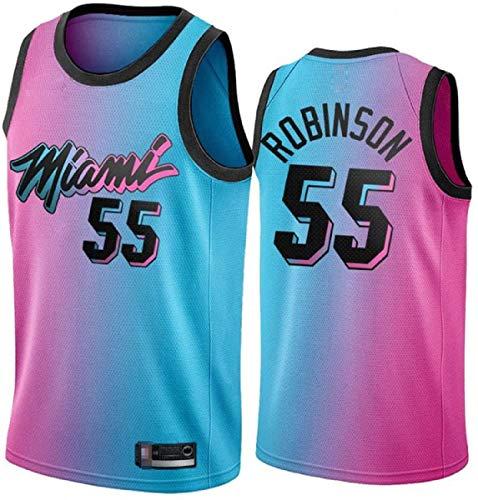 XSJY Men's NBA Jersey- Miami Heat # 55 Jason Williams Basketball Retro Jersey, Camiseta Top Sin Mangas Bordada Clásica, Ropa Deportiva De Tela Transpirable De Malla,A,L:175~180cm/75~85kg