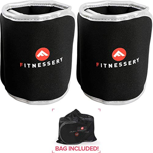 Ankle Weights (5 Pounds x 2) - Ankle Weights for Women and Men - Wrist Weights for Women and Men - Leg Weights for Women and Men - Arm Exercise Weights - Home Gym Workout Equipment - Ankle Weight
