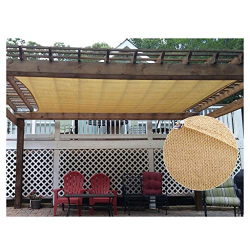 Sun Shade Sail Canopy, Rectangle 185 GSM Thicker Waterproof 95% UV Outdoor Shade Sunscreen Net for Deck Patio Pergola Backyard Facility Activities Canopy Awning,2x3m 5x5m Multiple Sizes