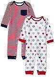 Amazon Essentials - Pack de 2 peleles para bebé, Uni Americana, US 3-6M (EU 62-68)