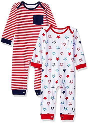 Amazon Essentials - Pack de 2 peleles para bebé, Uni Americana, US...