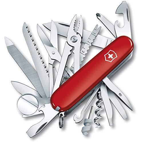 Couteau Suisse multifonction Victorinox Swisschamp 91mm 30 fonctions - 1.6795 - Acier inoxydable - Acrylique - Rouge