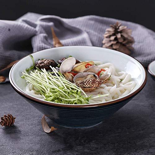 CESULIS Tazón de cerámica creativa del restaurante Ensalada de pasta anti-calientes platos tailandeses gran capacidad de Hogares Bowl, Vajilla