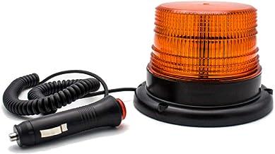 Gyrophare balise LED avec base magnétique pour véhicules 12V (Orange)