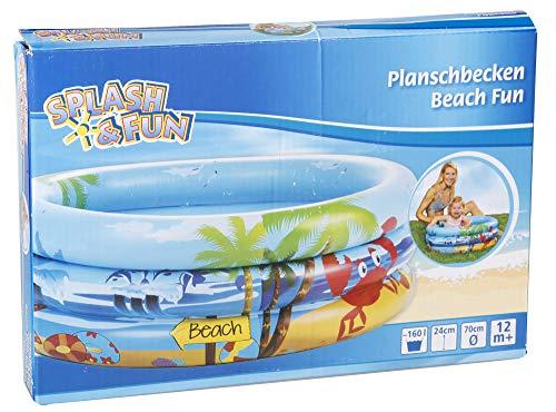 VEDES Großhandel GmbH - Ware 77703497 Splash & Fun Babyplanschbecken Beach Fun, Ø70cm