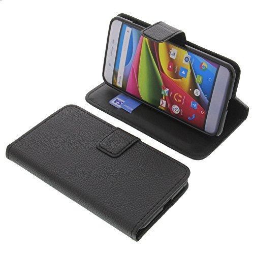 foto-kontor Tasche für Archos 50 Cobalt Book Style schwarz Schutz Hülle Buch
