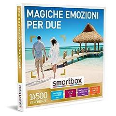 Idea Regalo - Smartbox - Magiche Emozioni per Due - Cofanetto Regalo Coppia, Un Soggiorno o Una Cena o Una Pausa Benessere o Un'Attività di Svago per 2 Persone, Idee Regalo Originale