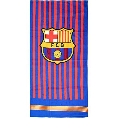 Brandunit FC Barcelona - Toalla de baño (70 x 140 cm, talla única), diseño de rayas
