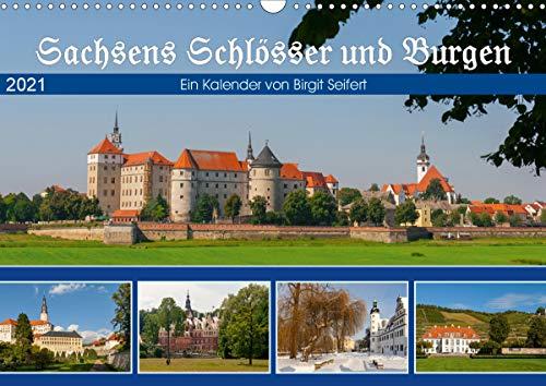 Sachsens Schlösser und Burgen (Wandkalender 2021 DIN A3 quer)