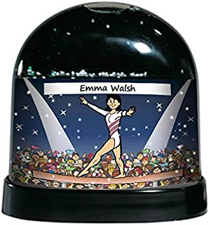 PrintedPerfection.com Personalized NTT Cartoon Caricature Snow Globe Gift: Gymnast, Gymnastics, Trophy Female