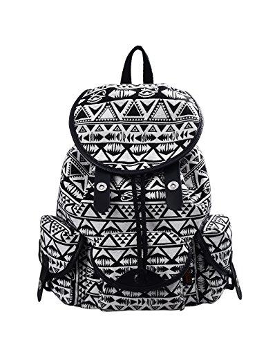 Douguyan vintage tela di canapa casuale di viaggio borsa zaino giovani donne zainetti ragazza per borsa da viaggio scuola di donne per laptop fino a 14 pollici nero E00125