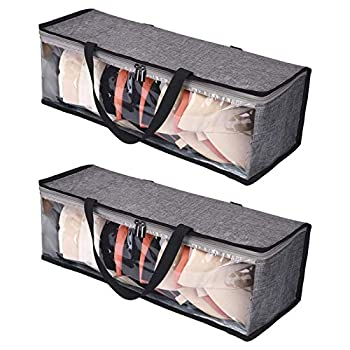 """Hat Storage,Hat Protector,Sport Hat Organizer Baseball Cap Storage Bag Cap Bag/Holder Hat Carrying Case With Carry Handles and Zipper Closure ,Top Hats Organizer Holds Up to 19 Hats Durable Dust Proof 21.2""""L x 6.3""""W x 7.8""""H,2 Packs"""