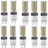 WUIO Bombilla LED Tipo Maíz, 20W Bright G12 Luz Tipo Maíz 200W Equivalente, Luz LED Tipo Maíz 2000Lm Daywhite 7000K 360 ° Bombillas LED con Ventilador para Cocinas, Comedores,10pcs