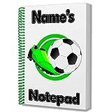 Fußball Fußballer Personalisiertes Geschenk–A5Notizblock/Notizbuch, Zeichnungen Doodles Tagebuch Notizen