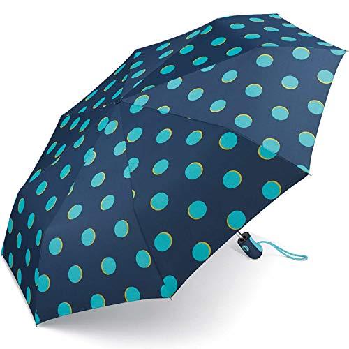 Esprit Taschenschirm Easymatic Light Moon Dots - Blue Curacao