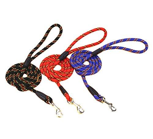 Da. WA 1pcs 1,2m duradero mascota perro Nylon lazo ajustable formación Correa antideslizante plomo cuerda de tracción perro cinturón de cadena (color al azar)