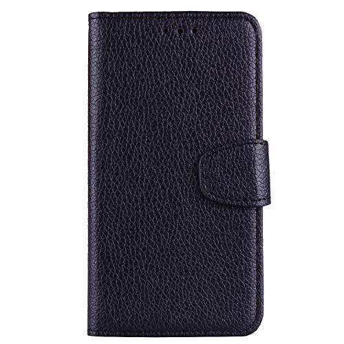 Sunrive Hülle Für HTC Desire 530/630, Magnetisch Schaltfläche Ledertasche Schutzhülle Hülle Handyhülle Schalen Handy Tasche Lederhülle(025 Schwarz)+Gratis Universal Eingabestift