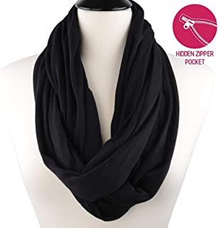 6223f47a72dc1 Infinity Pocket Scarf Women - With Yoga Headband - Extreme Soft Travel Scarf  for Winter Spring