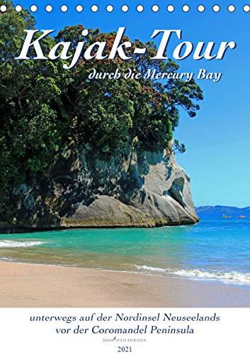Kajak-Tour durch die Mercury Bay (Tischkalender 2021 DIN A5 hoch)