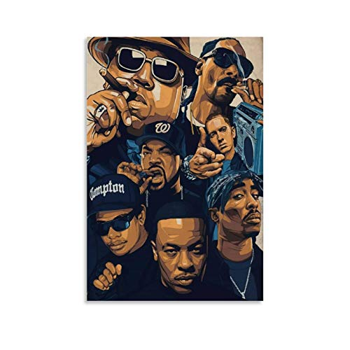 West Coast Rappers Poster Canvas Art Poster and Wall Art Picture Print Modern Family Bedroom Decor Posters 16x24inch(40x60cm)