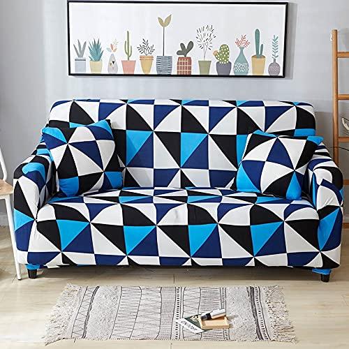 WXQY Fundas geométricas elásticas Fundas de sofá elásticas protección para Mascotas Funda de sofá Esquina en Forma de L Funda de sofá Antideslizante A8 2 plazas