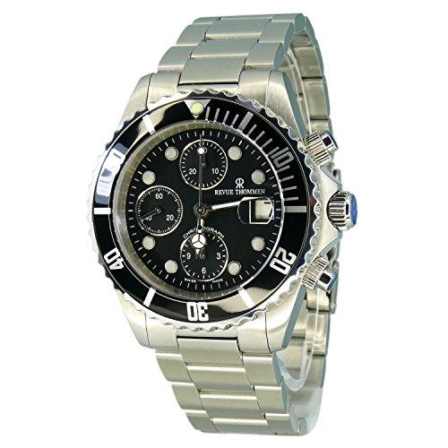 Revue Thommen–Reloj de Pulsera para Hombre XL Diver Cronógrafo Automático Acero Inoxidable 17571.7137