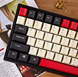 Teclado WASD 84 KeyCaps PBT para el Teclado mecánico DIY KEYCOOL 84 LEYCOL LEYCAP LEYDOUS Removedor de Teclas (Color : Black Red Top Print)