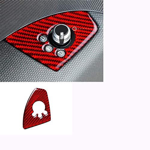 Rtyuiop Calcomanías de Fibra de Carbono para Coche, para Audi TT 2008-2014, Panel de Marco de Cambio de Marchas de Consola, Accesorios Interiores, Tiras de moldura