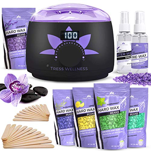 Waxing Kit Wax Warmer -EASY TO USE Digital Display 47 Items - Hair Removal Wax