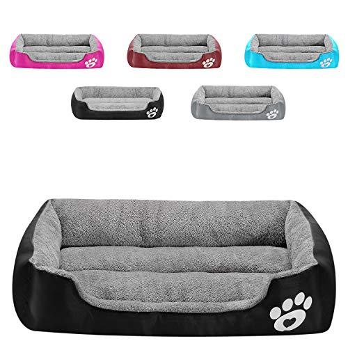MONIKI, superweiches Hundebett, Haustiersofa mit rutschfester Unterseite, selbstwärmendes und atmungsaktives Premium-Haustierbett