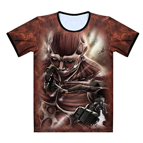 Douzxc Anime Heren T-Shirts Gym Training T-Shirt Anime All Attack Attack Op Giant Allen Anime T-Shirt Met Korte Mouwen, Zomer