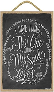 """SJT ENTERPRISES, INC. I Have Found The one whom My Soul Loves (Song of Solomon 3:4) 7"""" x 10.5"""" Wood Plaque Sign Featuring ..."""