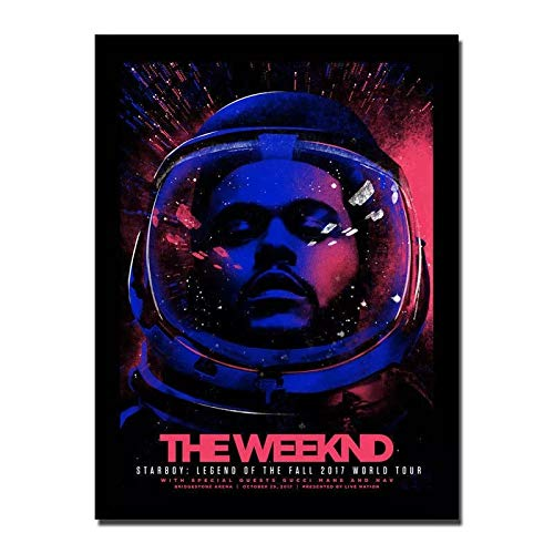 qianyuhe Cuadros artísticos de Pared Carteles e Impresiones The Weeknd Starboy Tour Rap Music Album Cover Singer Star Art Poster decoración del hogar 60x90cm (24x36inch