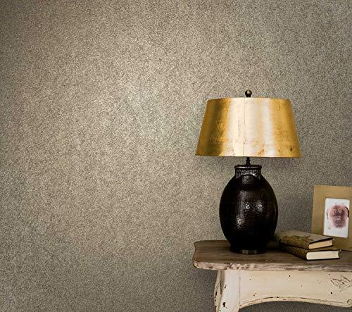 WALLCOVER Tapete Gold Uni Modern | Luxustapete für Wohnzimmer Schlafzimmer Küche Flur | Marburg Ulf Moritz 74820 | 10,05m x 0,70m | Premium Qualität Made in Germany