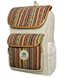 BeHemppy | New 100% Pure Hemp Backpack/Bag/Daypack with Nepal Laptop Sleeve, Unisex (Red...