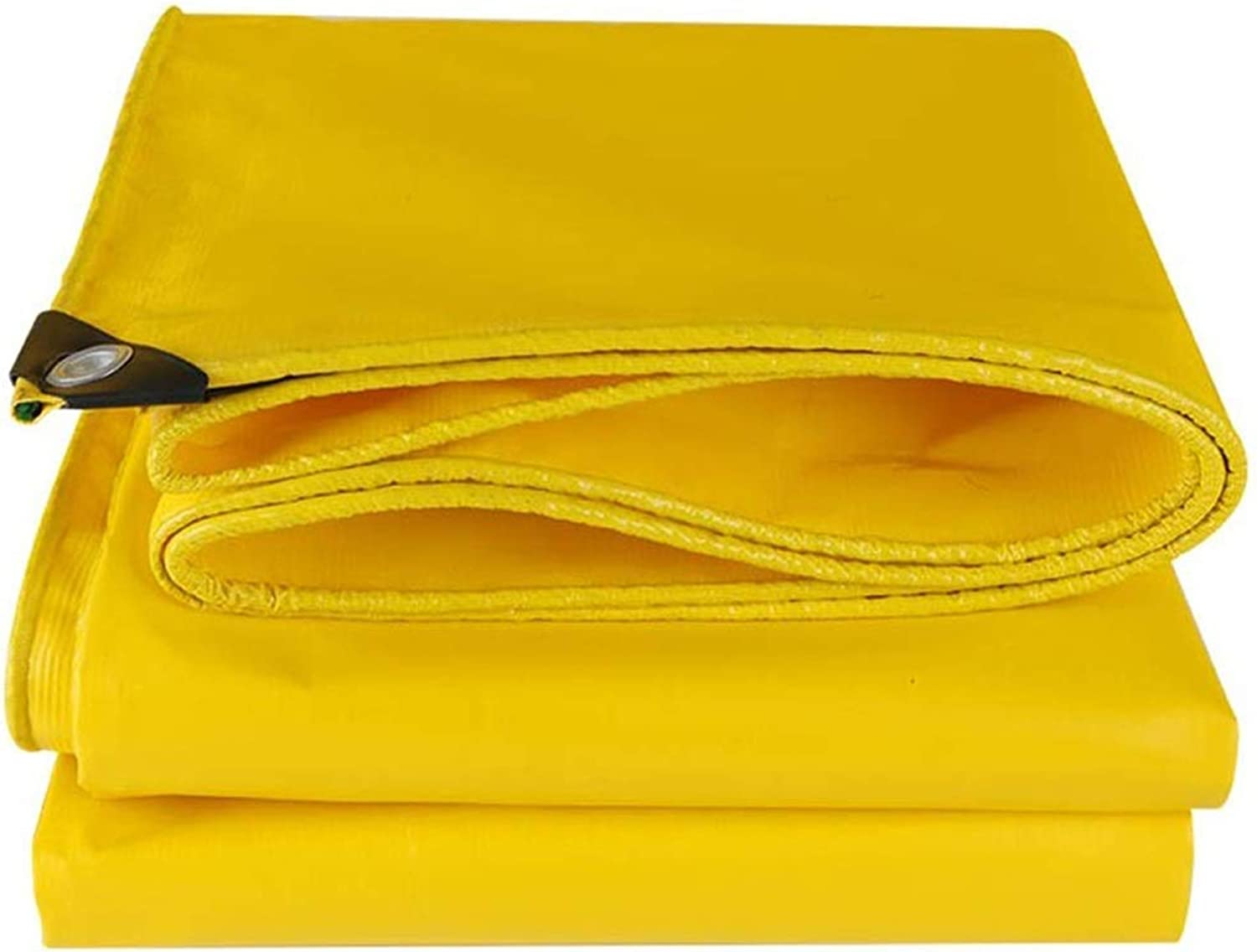 Tarp MultiPurpose Waterproof Tarpaulin with Grommets, Reinforced RipStop & Corner Reinforcement, Yellow  500g m2