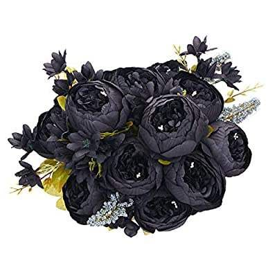 Amazon - Save 50%: ANWBROAD Artificial Peony Flower Vintage Fake Flowers Bouquets 2 Pack…