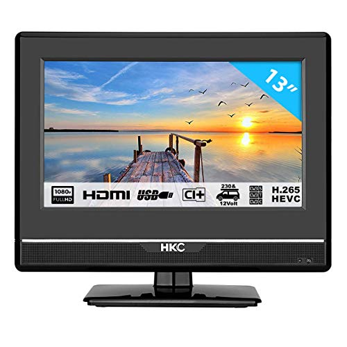 Preisvergleich Produktbild HKC 13M4: 33, 8 cm (13 Zoll) LED-Fernseher (Full HD,  Triple Tuner,  CI+,  Mediaplayer USB 2.0,  12V Kfz-Ladegerät) [Energieklasse A+]